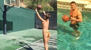 Joanna Krupa gra w kosza topless!