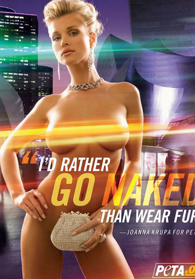 Joanna Krupa w kampanii społecznej organizacji PETA. /East News
