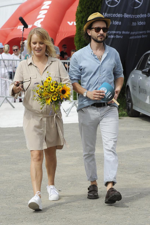 Joanna Kulig z mężem Maciejem Bochniakiem (lipiec 2018) /AKPA