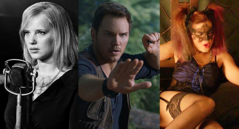 """Joanna Kulig (""""Zimna wojna""""), """"Chris Pratt (""""Jurassic World: Upadłe królestwo"""") i Michalina Olszańska (""""Muzykanci"""") /materiały dystrybutora"""