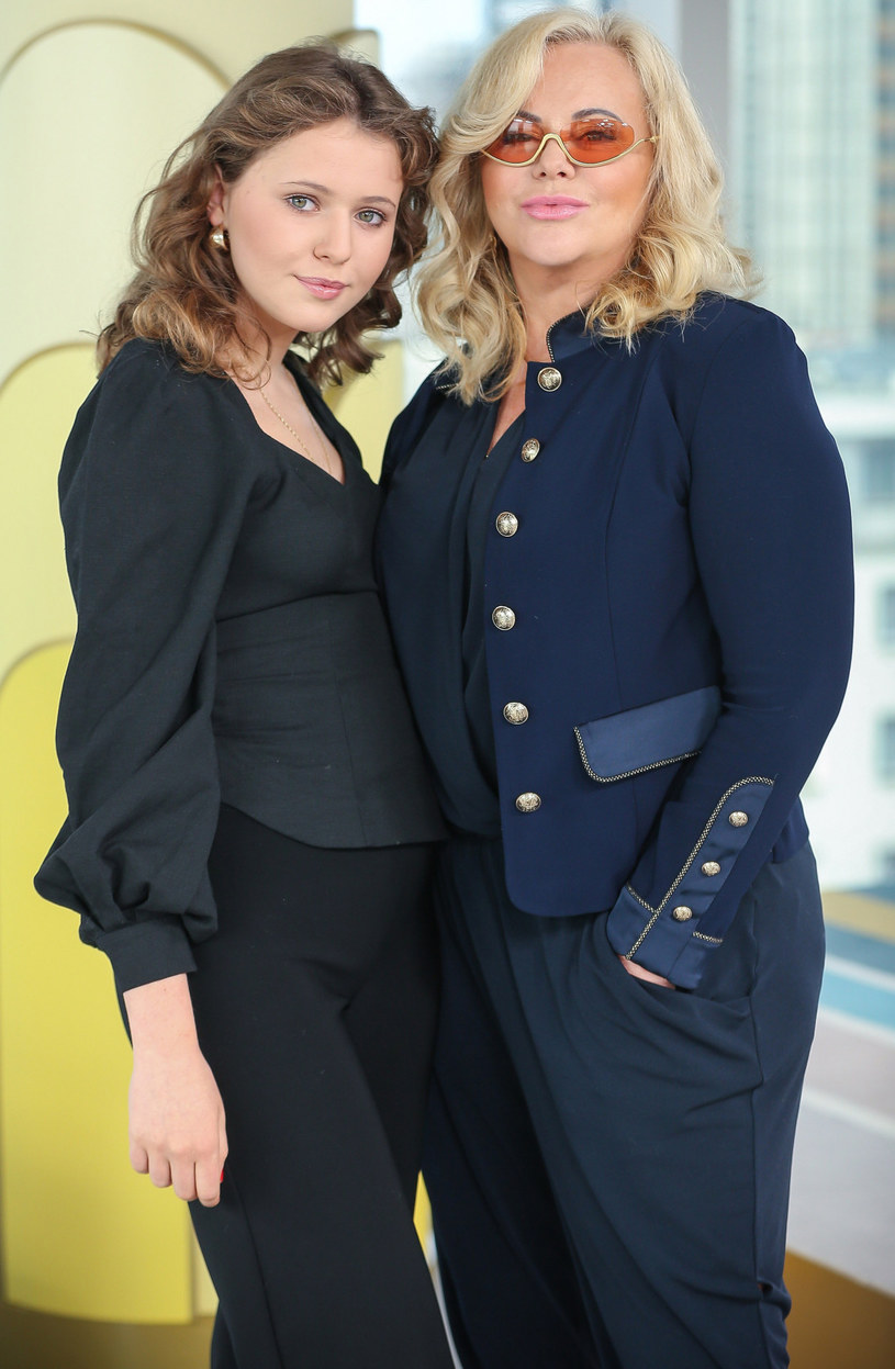 Joanna Kurowska z córką Zosią /Kamil Piklikiewicz /East News