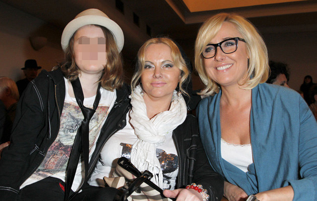 Joanna Kurowska z Zosią i przyjaciółką Agatą /Engelbrecht /AKPA