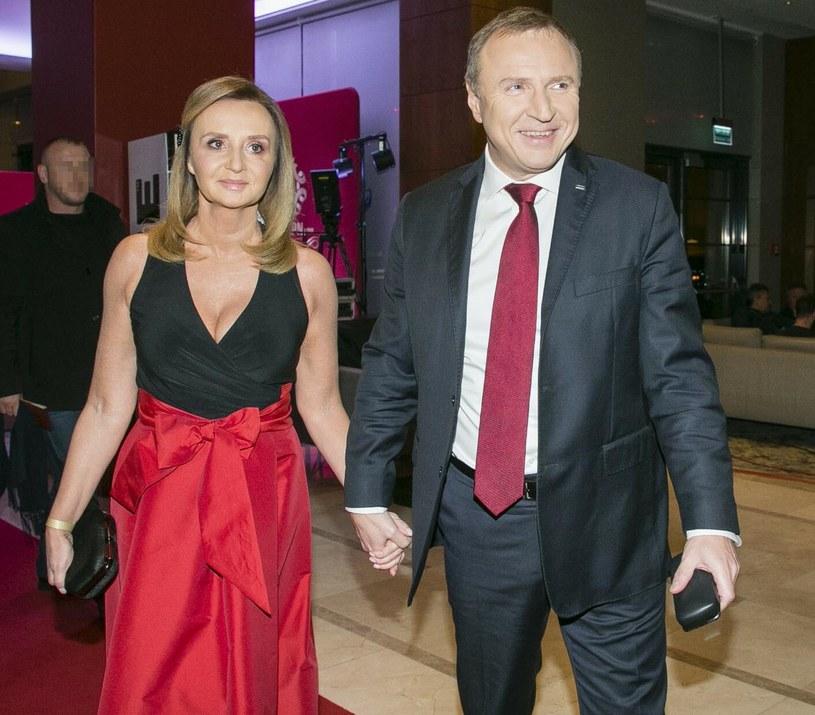 Joanna Kurska i Jacek Kurski /PAWEL DABROWSKI/AGENCJA SE /East News