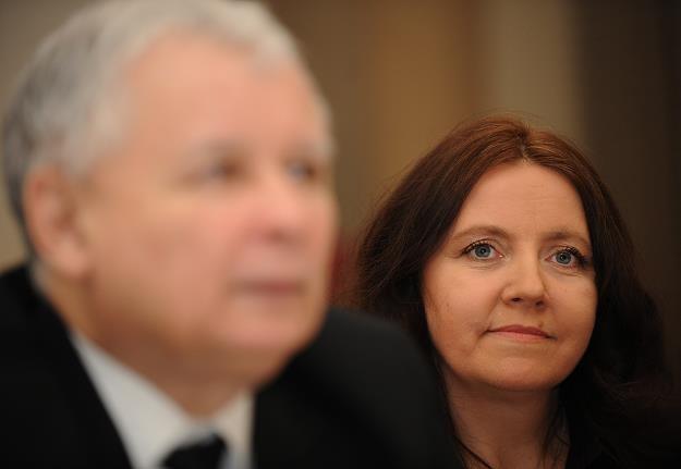 Joanna Lichocka i Jarosław Kaczyński. Fot. Adam Chełstowski /FORUM