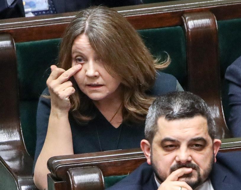 Joanna Lichocka w lutym na posiedzeniu Sejmu /Piotr Molecki /East News