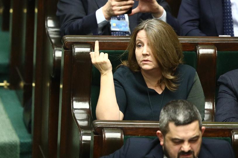 Joanna Lichocka w Sejmie /Tomasz Jastrzebowski/REPORTER /Reporter