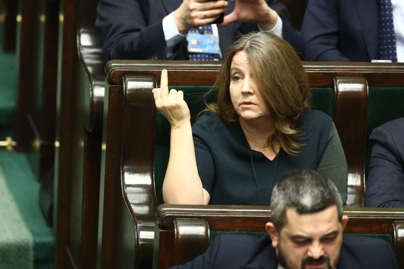 Joanna Lichocka w Sejmie /Tomasz Jastrzębowski /Reporter