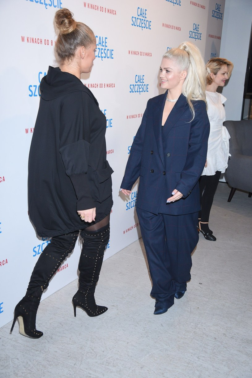 Joanna Liszowska i Margaret spotkały się na ściance /East News