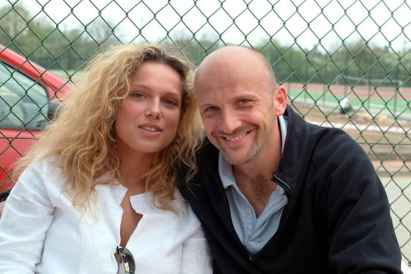 Joanna Liszowska i Robert Rozmus, rok 2003 /Piotr Fotek/REPORTER /East News