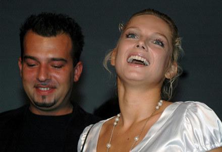 Joanna Liszowska z partnerem/fot. Andrzej Szilagyi /MWMedia