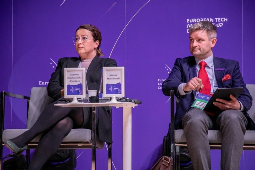 Joanna Maćkowiak-Pandera, prezes Forum Energii i Michał Motylewski, Dentons /Fot. Ireneusz Rek /INTERIA.PL