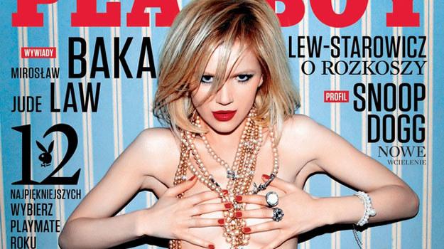 Joanna Majstrak na okładce /Playboy /materiały prasowe