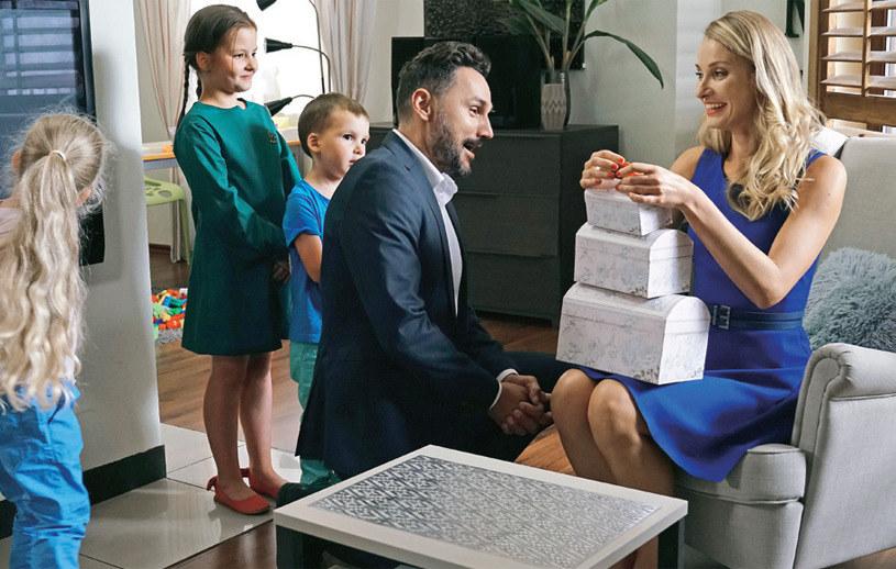 """Joanna Moro na planie """"Barw szczęścia"""" /Agencja W. Impact"""