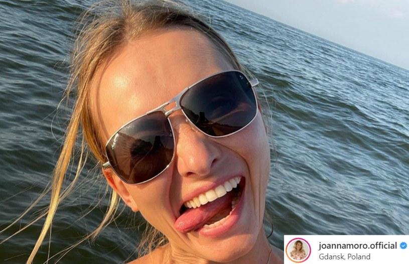 Joanna Moro na swoim InstaStory wyraziła opinię na temat rozstających się par z show biznesu /Instagram