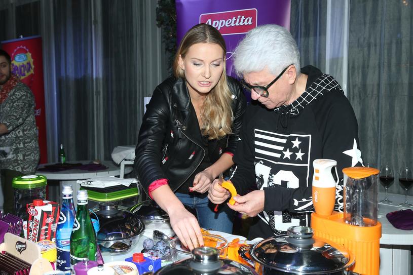Joanna Moro podczas kulinarnych zawodów gwiazd /VIPHOTO/EAST NEWS  /East News