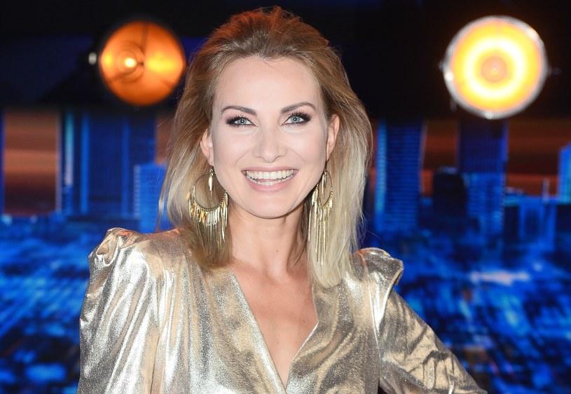 """Joanna Moro podczas nagrania programu """"Jaka to melodia"""" /Jarosław Antoniak /MWMedia"""