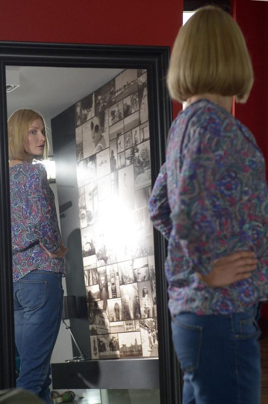 """Joanna Moro w serialu """"Blondynka"""" /Gałązka /AKPA"""