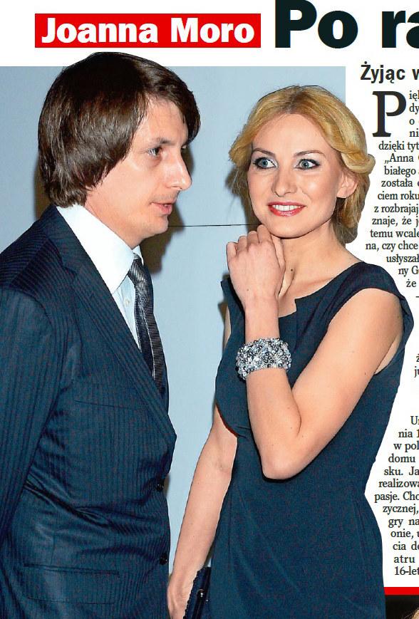 """Joanna Moro z mężem - zdjęcia opublikował magazyn """"Życie na Gorąco"""" /Życie na gorąco"""
