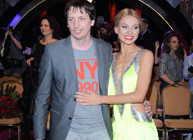 Joanna Moro z mężem /Andras Szilagyi /MWMedia