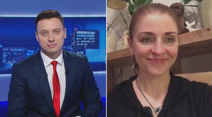 Joanna Mucha była gościem Piotra Witwickiego na antenie Polsat News /Polsat News