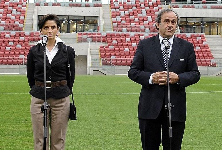 Joanna Mucha i Michel Platini /AFP