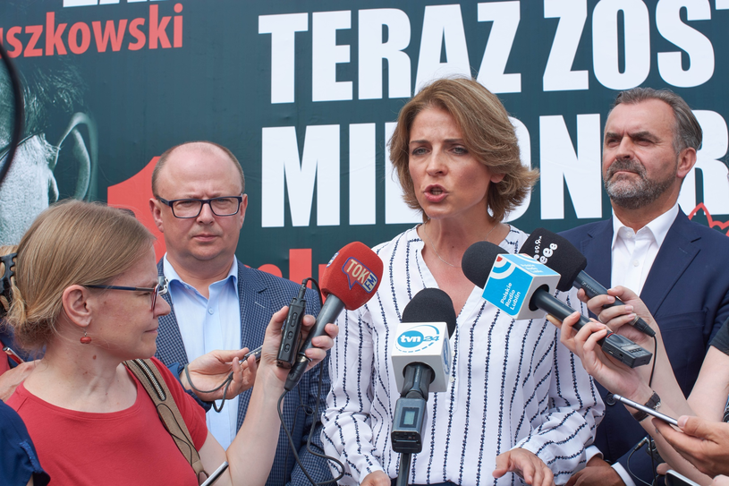 Joanna Mucha i Włodzimierz Karpiński /East News