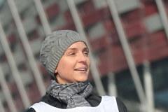 Joanna Mucha obiegła Stadion Narodowy