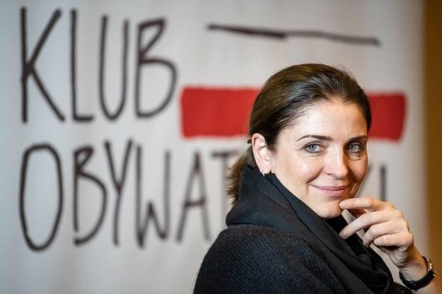 Joanna Mucha podczas spotkania Klubu Obywatelskiego Lublin. Zdjęcie archiwalne /Wojciech Pacewicz /PAP