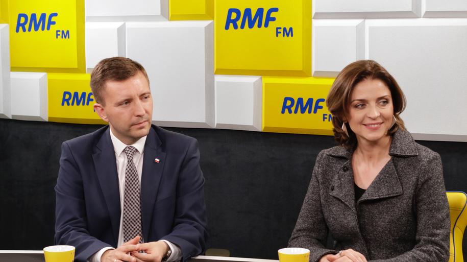 Joanna Mucha z Platformy Obywatelskiej i Łukasz Schreiber z Prawa i Sprawiedliwości /Karolina Bereza /RMF24