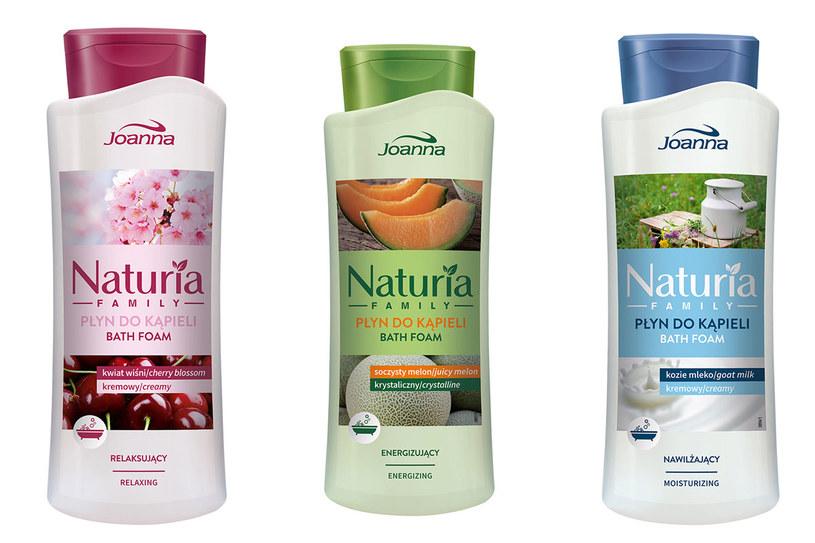 Joanna Naturia Family: Płyny do kąpieli /materiały prasowe