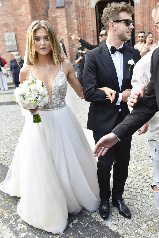 Joanna Opozda i Antek Królikowski w dniu swojego ślubu /Norbert Nieznanicki /AKPA