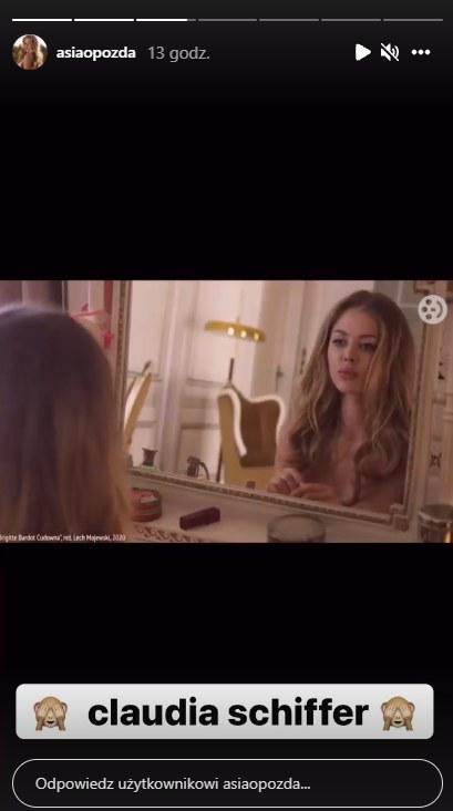 Joanna Opozda w roli Brigitte Bardot / @asiaopozda /Instagram