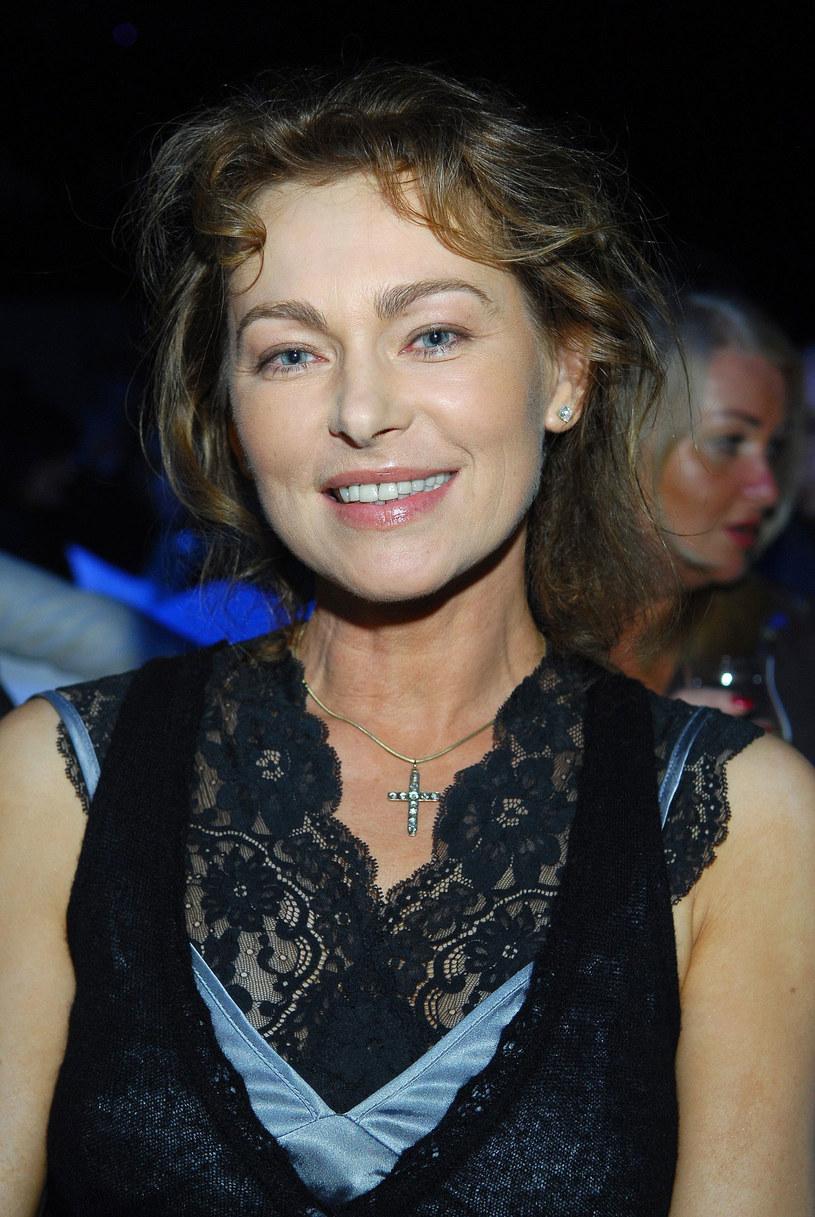 Joanna Pacuła na pokazie mody w roku 2007 /East News