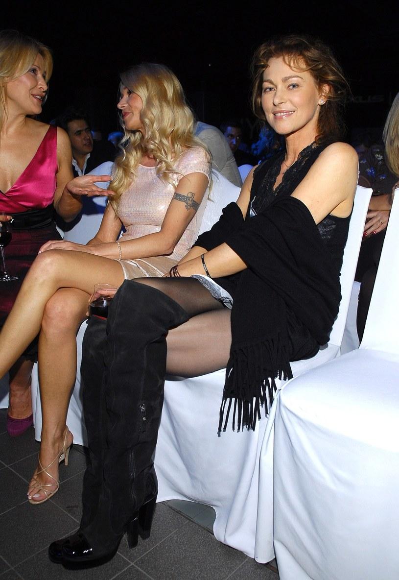 Joanna Pacuła z Ewą na evencie /Tricolors /East News