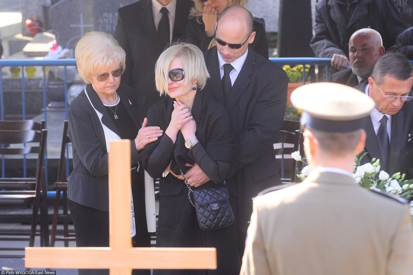 Joanna Racewicz na pogrzebie męża /Piotr Wygoda /East News