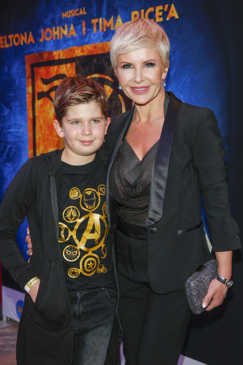 Joanna Racewicz z synem Igorem Janeczkiem /Podlewski /AKPA