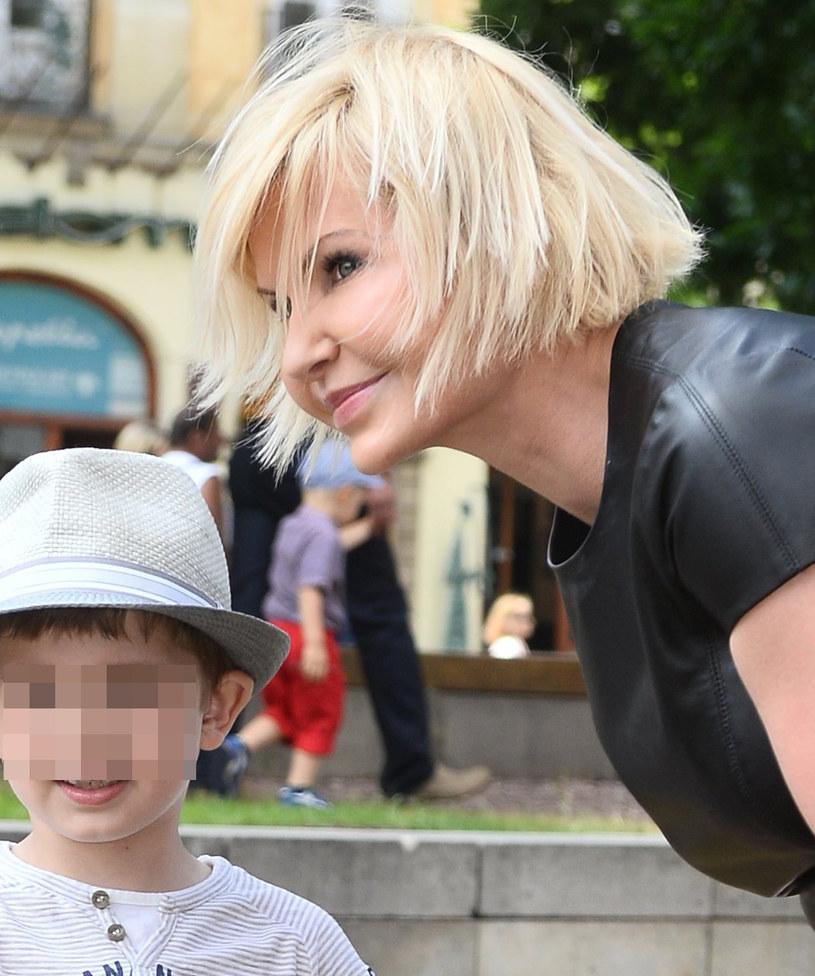 Joanna Racewicz z synem Igorem /Jarosław Antoniak /MWMedia