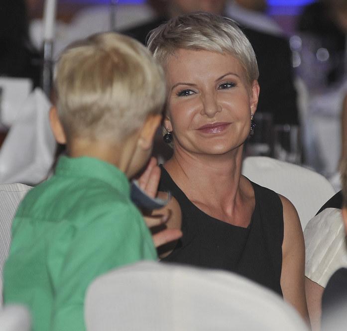 Joanna Racewicz z synem /Niemiec /AKPA