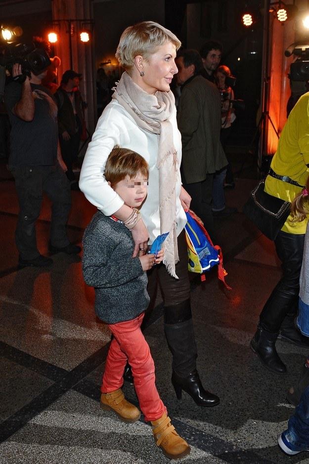 Joanna Racewicz z synem /MWMedia