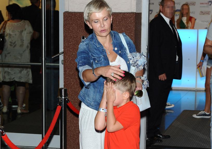 Joanna Racewicz z synem /Piotr Andrzejczak /MWMedia