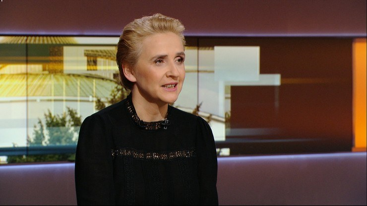 """Joanna Scheuring-Wielgus w """"Graffiti"""" /Polsat News /Polsat News"""
