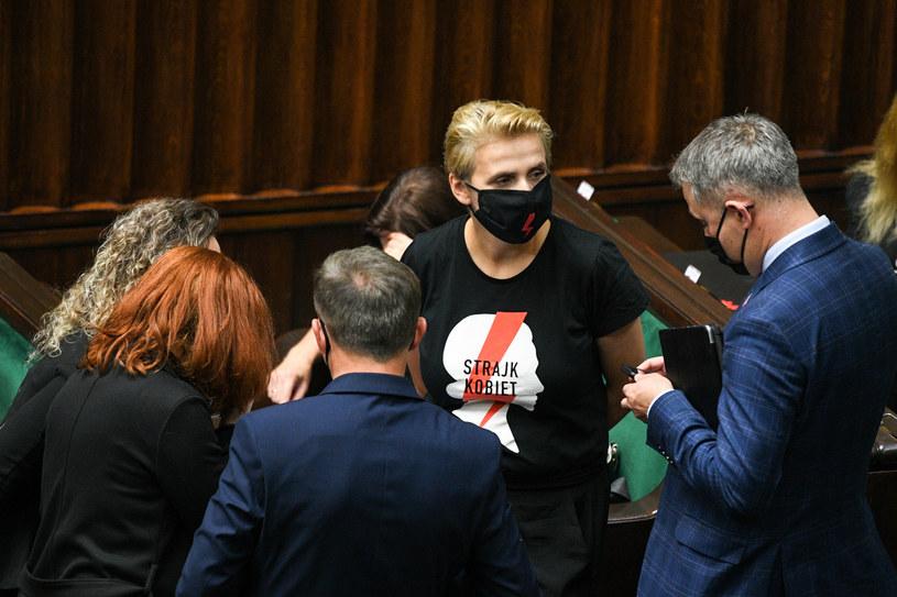 Joanna Scheuring-Wielgus w Sejmie / Jacek Dominski /REPORTER /Reporter