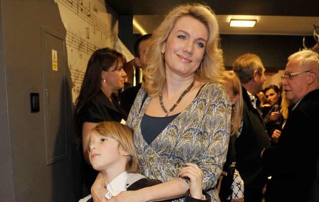 Joanna Trzepiecińska z synem Wiktorem, fot. Niemiec  /AKPA