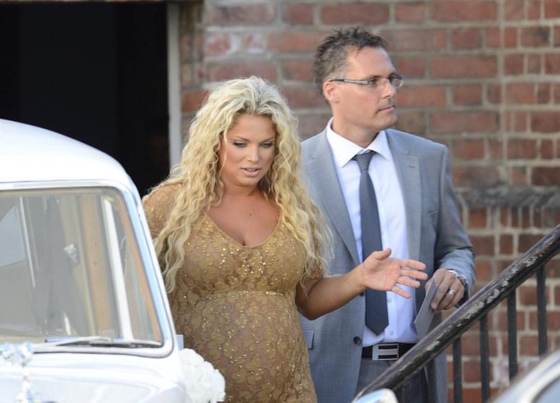 Joanna z byłym już mężem /VIPHOTO