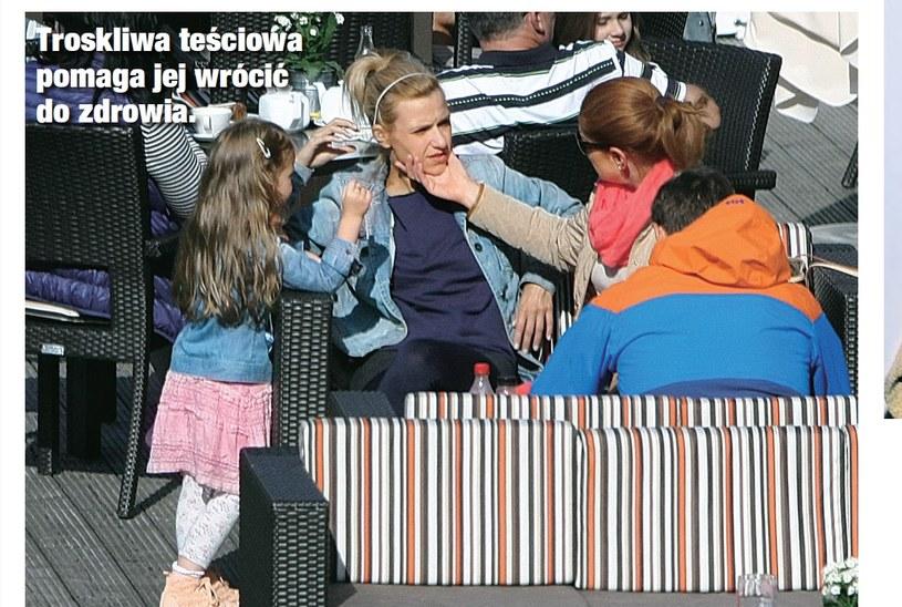 Joanna z córką i mamą Maćka /- /Świat & Ludzie