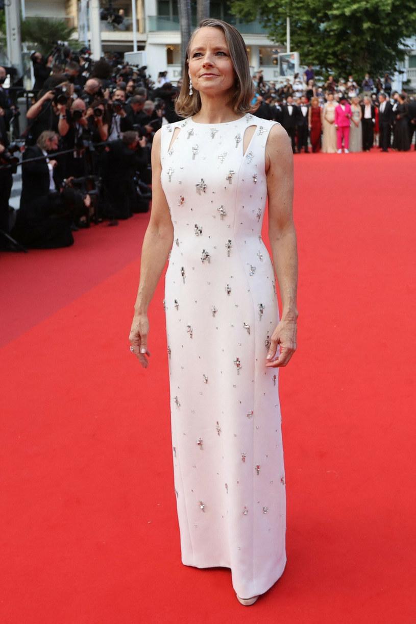 Jodie Foster na czerwonym dywanie w Cannes /VALERY HACHE /East News