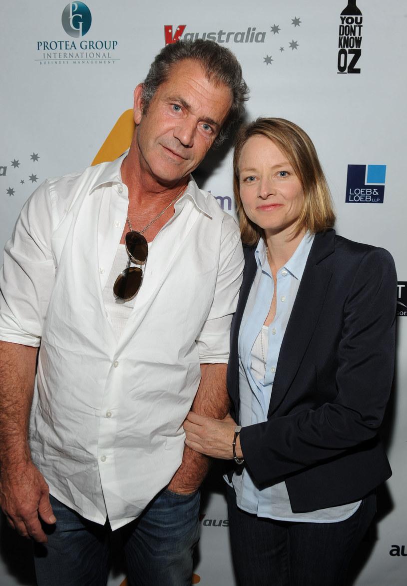 Jodie Foster z Melem Gibsonem  /Getty Images/Flash Press Media