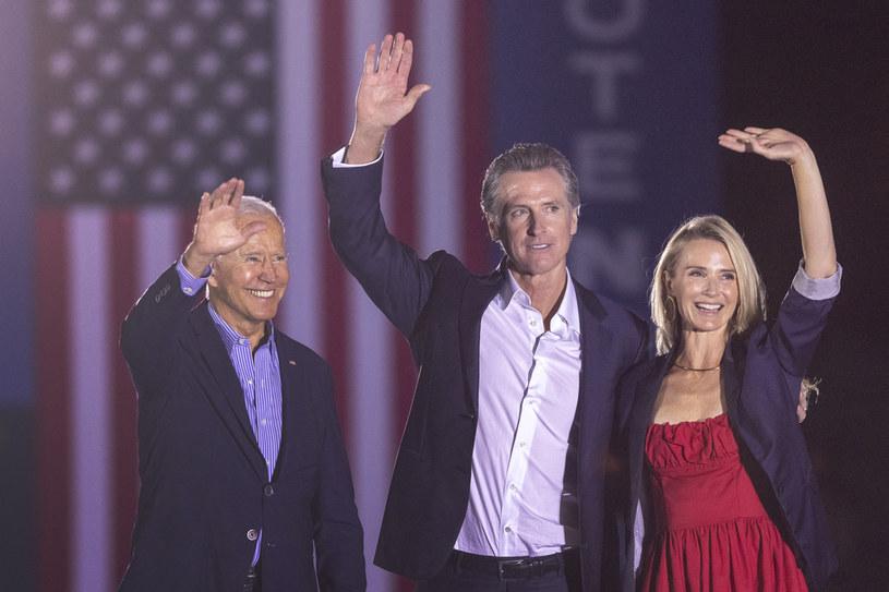 Joe Biden agitował na rzecz Gavina Newsoma w Kalifornii /AFP