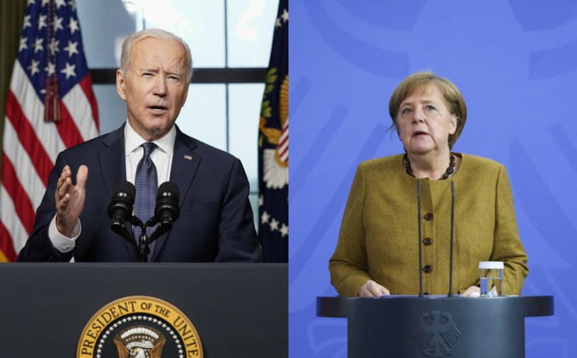 Joe Biden i Angela Merkel /AP Pool/Associated Press/East News /East News