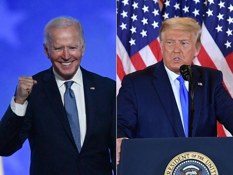 Joe Biden i Donald Trump w wieczór wyborczy /AFP